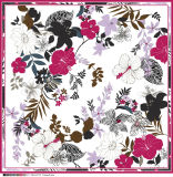 Подгонянный шарф картины цветка женщин красивейший мягкий Silk
