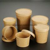 Wegwerfsuppe-Cup mit Papierkappe
