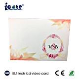 Поздравительные открытки приглашения венчания экрана LCD 10.1 дюймов видео-