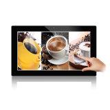 Tablette androïde d'intérieur fixée au mur de HD annonçant l'étalage avec le contact capacitif