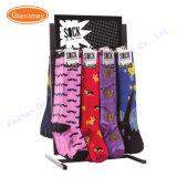 Doppeltes versah Countertop-drehende Metallbildschirmanzeige-Socken-Zahnstange mit Haken mit Seiten