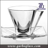 малый стеклянный комплект чая 3oz чашки & поддонника (TZ-GB09D0303TW)
