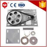 La máquina de la puerta de Tianyu 500kg 1p rueda para arriba el motor del obturador