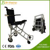 luz 5.5kg de alumínio que dobra a cadeira de rodas portátil para viajar