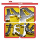 signes de lettre de la Manche en métal 3D annonçant la machine à cintrer bridante d'aluminium