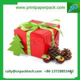 Rectángulo de empaquetado de Folower del rectángulo de regalo del Bowknot de la cartulina encantadora de la Navidad