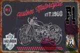 Neues dekoratives Motorrad geprägtes Metallwand-Zinn-Zeichen