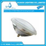 18watt calientan la luz subacuática blanca de la piscina de PAR56 LED