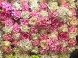 Qualität blüht Silk gefälschte künstliche Blumen-Wand-Hintergrund-Dekoration