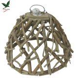 Linterna de madera para la decoración casera con el LED