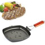 Pliable Non-Stick Steak poêle de cuisson Grill carré Pan 20/24/28cm