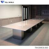 Table de réunion en pierre de marbre artificielle de bureau de Tableau de conférence de Corian