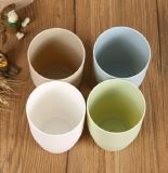 El vajilla biodegradable de Wheatstraw embroma la taza de té de bambú de la fibra