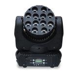 DMX512 디스코 DJ는 점화 10X12W 눈 편평한 LED 이동하는 맨 위 빛을 상연한다