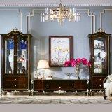 居間の家具のための花立場が付いている木TVの立場