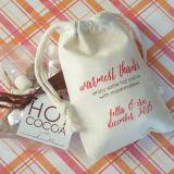 Sacchetto organico del cotone del sacchetto di Drawstring del cotone