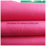 La tela de Greige del ramio del lino del 100%, pedazo teñió la tela, la tela Yarn-Dyed para la camisa, el juego, el pantalón, el etc.