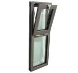 Oscilación moderno de aluminio Windows de la resistencia de impacto del huracán
