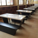 Corianの固体表面の石造りの上のレストランのダイニングテーブル(SP-CS393)