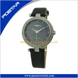 Regarder la bande de cuir de mode Postar Miyota Quartz roi ronde Watch