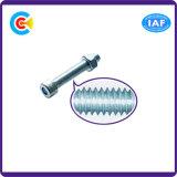 DIN/ANSI/BS/JIS Stainless-Steel Carbon-Steel/tête cylindrique hexagonale Vis de la tige à double faisceau