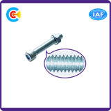 DIN/ANSI/BS/JIS Carbon-Steel/Stainless-Steel Cabeça Cilíndrica Hexagonal os parafusos da haste de Feixe Duplo