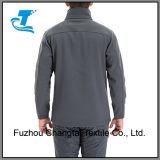 Windundurchlässiges Softshell der Männer Vorder-Machen Vlies-Gezeichnete Umhüllung Reißverschluss zu