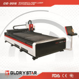 Tagliatrice del laser 1kw della fibra della baracca dell'elevatore Ge-3015