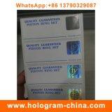 Escritura de la etiqueta caliente del papel del holograma de la seguridad estampada