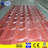 Azulejos de acero galvanizados prepintados rojos