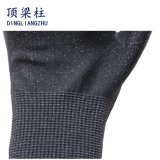 gants de sûreté de résistance de coupure de noir de 13G Hppe avec l'unité centrale enduite
