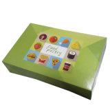 음식 종이상자를 포장하는 녹색 사랑스러운 도넛