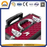 Cassa rossa del carrello di trucco di nuovo modo con i divisori e la serratura (HB-6413)