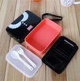 PlastikBento Mittagessen-Kasten-Nahrungsmittelbehälter mit Gabel und Löffel 20001
