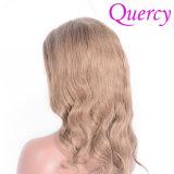 최신 판매 브라질 Virgin Remy 머리 연한 색 바디 파 실크 최고 레이스 가발