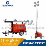 Torretta chiara del rimorchio diesel del generatore di Genlitec (GLT6000-9M) con il proiettore 6000W