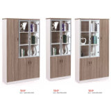 Meubles de bureau en verre de bibliothèque de porte de Module en bois