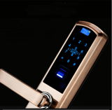 Замок двери F4 ручки фингерпринта карточки ключей RFID фингерпринта электронный биометрический