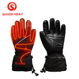 Genunieの新しく再充電可能な革熱くする手袋