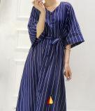 Kundenspezifische Form Stripes elegante Damen ankleiden lang