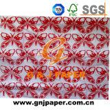 Mini naturel du papier de soie d'enrubannage de Nice avec les images imprimées