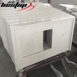 A produção direta da fábrica facilitou as bordas que lustram a venda branca das bancadas da estratificação de quartzo