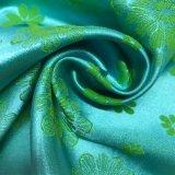 satin lumineux de Spandex de jacquard des fleurs 50d*75D+40d pour la chemise de nuit et les sous-vêtements 01