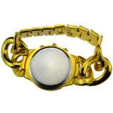 Legierungs-Kasten-Edelstahl-Brücke-Genf-Art-Armbanduhr für Frauen