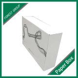 Boîte en carton ondulé blanc avec logo de l'impression