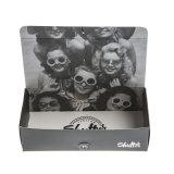 2017 caja modificada para requisitos particulares original y nueva del rectángulo de papel del negro de los vidrios de las gafas de sol de Eyewear del diseño con la impresión para la promoción