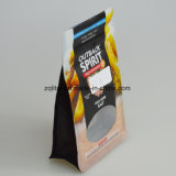 Sgs-FDA flache Unterseiten-Fastfood- Beutel-Stützblech-Plastiktasche-Reißverschluss-Verschluss-Beutel