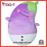 Brinquedos macios personalizados OEM da beringela do luxuoso do bordado dos desenhos animados com bom preço