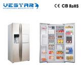 Bevanda fredda mini con le marche del frigorifero del barilotto di vino delle rotelle