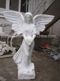 Statues de marbre blanches pures chinoises d'ange